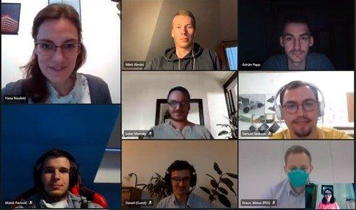 obrazovka z online stretnutia