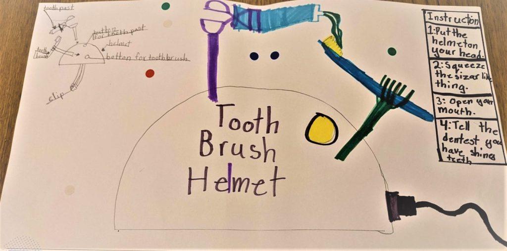 kresba_prilba na umývanie zubov